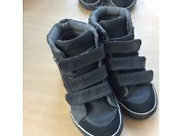 Boys shoes and batman wellington boots 3 pair size 8 and 9.