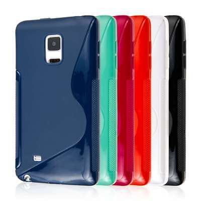 for Samsung Galaxy Note Edge S-Shape Flexible TPU Gel Skin Case Cover Protectors