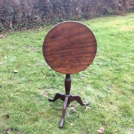 Tall table with drop round top