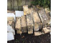 Reclaimed ashlar stone (Bath).