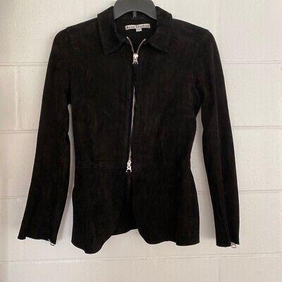 ACNE Studios Womens Blazer Black Full Zip Lamb Suede Jacket Lined  40
