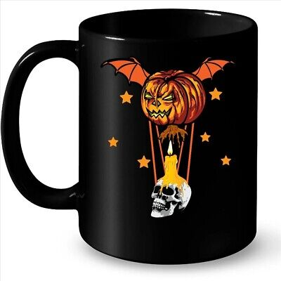 Halloween Horror Pumpkin Skull Coffee Black Mug