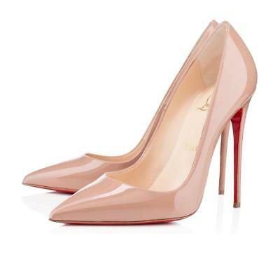 Christian LOUBOUTIN So Kate NUDE Patent Leather Pumps 120 Heels 41 10.5 Shoes