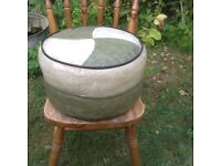 Sweet soft pouffee or fabric stool