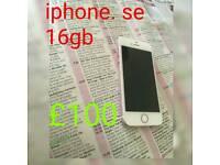 Iphone se 16gb on ee tmobile orange virgin and bt just phone 100 % WORKING