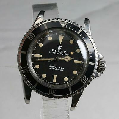 1970 VALUABLE VINTAGE Rolex Submariner Stainless Steel No Date Watch Ref. 5513