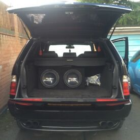 Pioneer Double Subwoofer + Amp