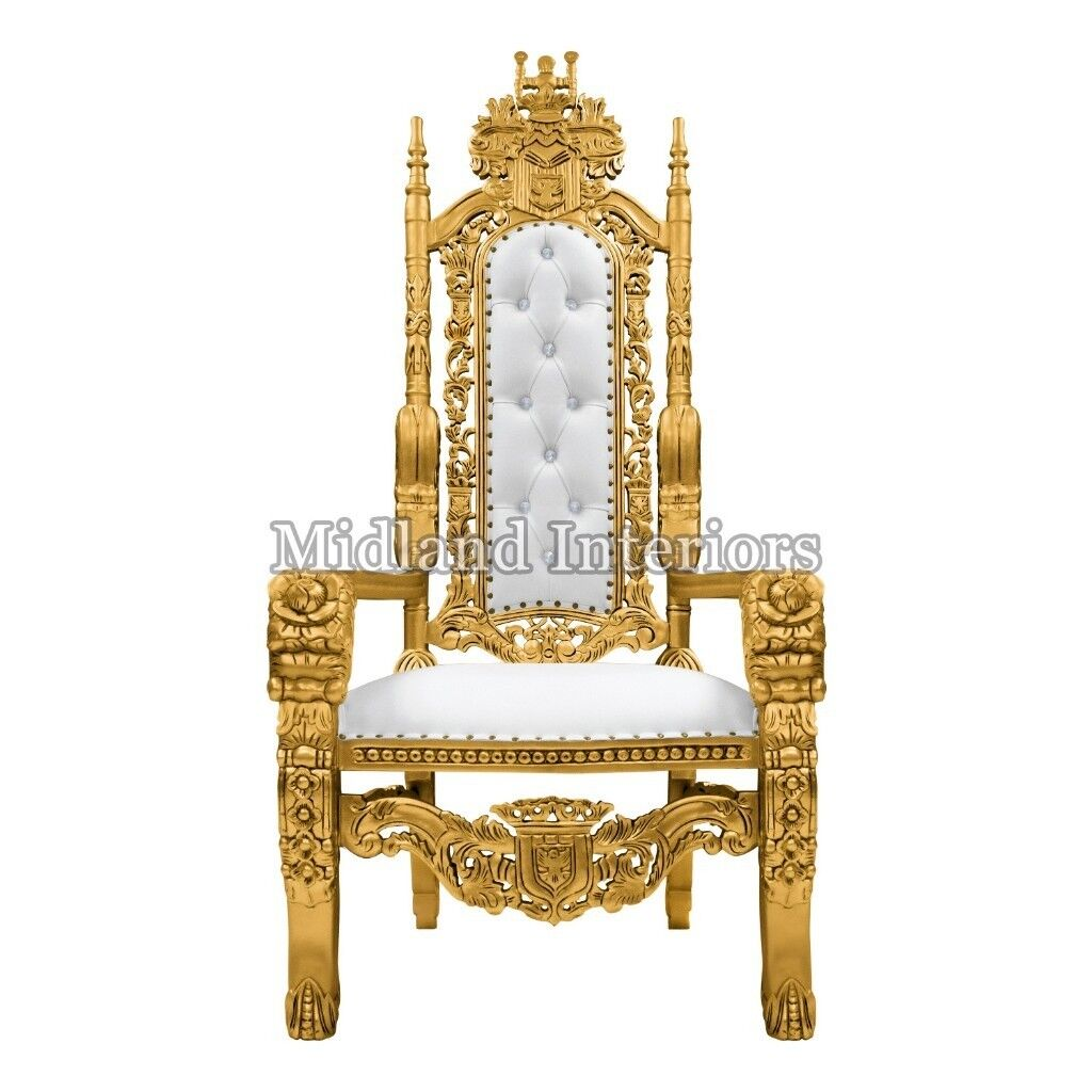 Fabulous 2 X New Gold Leaf Rose King Queen Throne Chair Wedding Luxury Hand Made French Italian Furniture In Birmingham City Centre West Midlands Gumtree Download Free Architecture Designs Sospemadebymaigaardcom