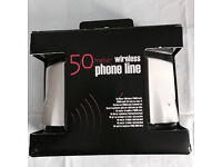 Brand new boxed 50 meter wireless phone line, quick sale at only £25,no time wasters please