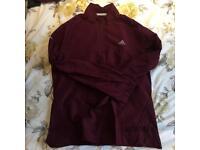 Burgundy Adidas running jacket size M