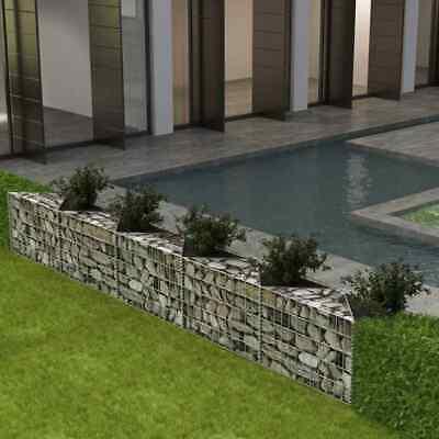 vidaXL Gabion Basket/Planter/Raised Vegetable Bed Steel 300x30x50cm Fence