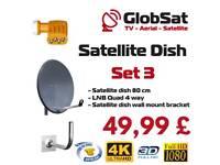 Satelitte dish + lnb QUAD TELEVES