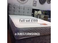 Brand new crush velvet beds with mattress £199 delivered