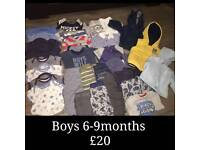 Boys clothes 3-12months