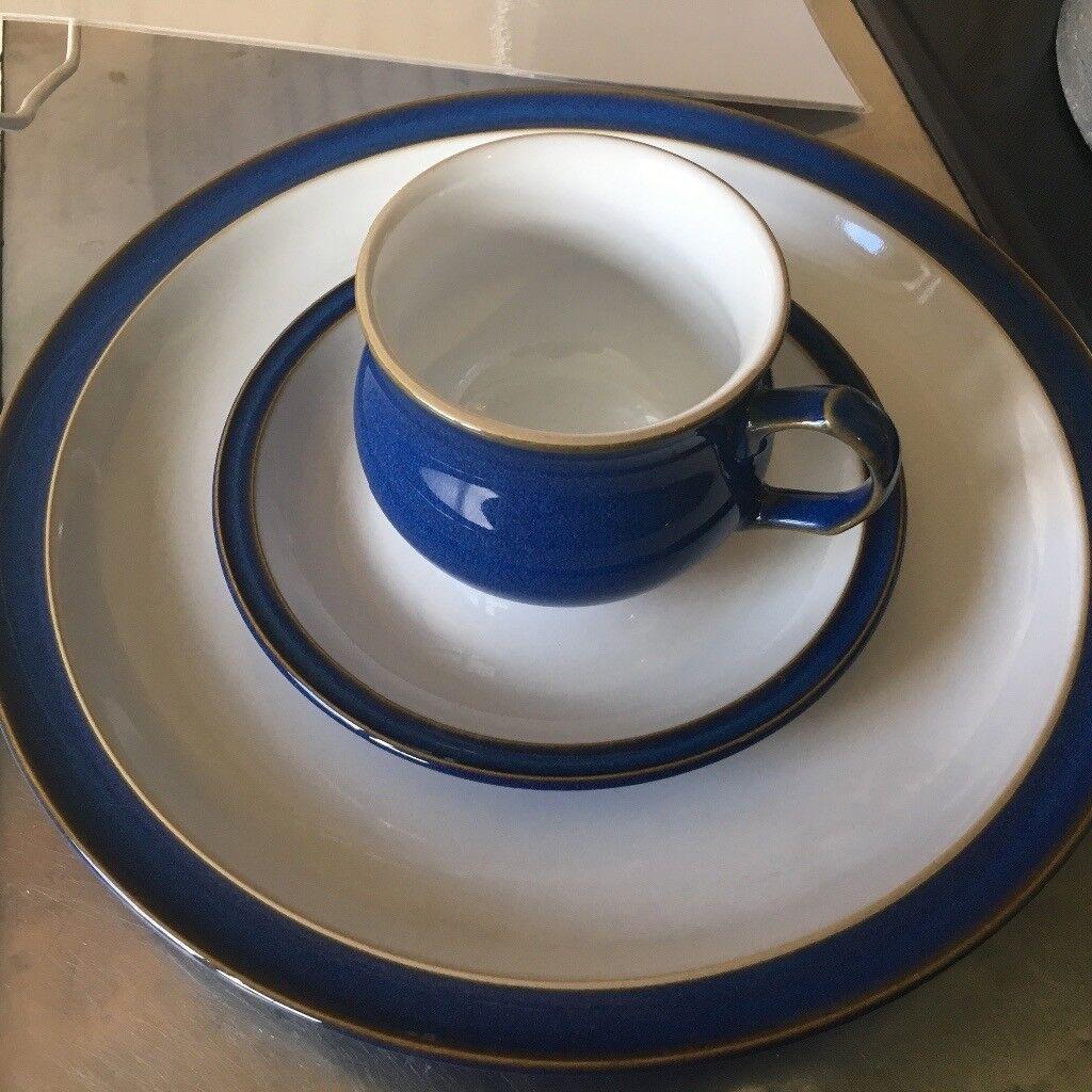 Denby Imperial Blue dinnerware 5 cups u0026 saucers + dinner plates | in . & Terrific Imperial Blue Denby Dinnerware Images - Best Image Engine ...