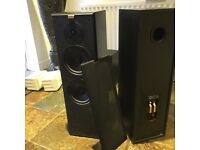 2 Pairs (4 speakers in all) of Vintage Jamo Cornet 70 Floor Standing speakers