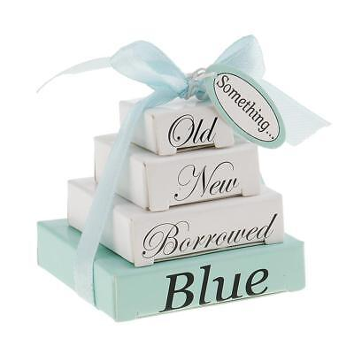 Something Old New Borrowed Blue Note Memo Pads Wedding Mini Nesting Boxes