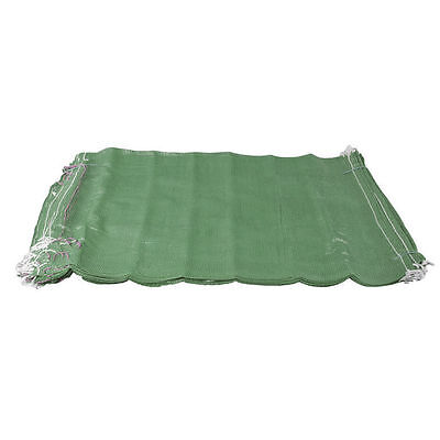 100 Green Net Sacks Mesh Bags Kindling Logs Potatoes Onions 50cm x 80cm / 30Kg