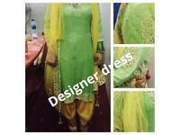 designer patiyala shalwar kameez,new,was £2000