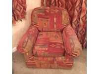Sofa bed and matching single seater armchair