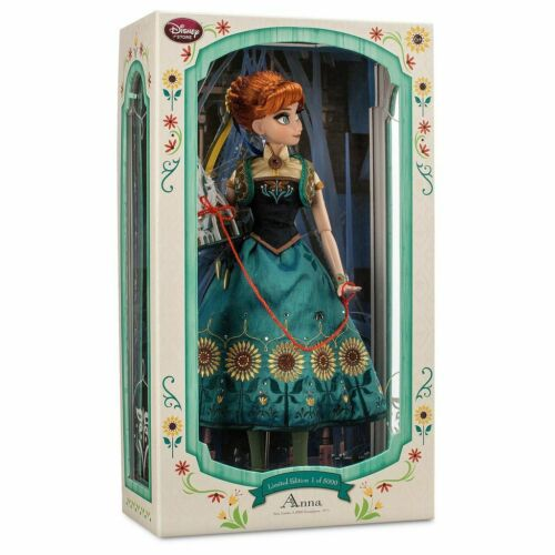 "Disney Frozen Fever Limited Edition Designer Princess Anna 17"" Doll LE 5000 NIB"