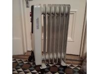 oil filled electric radiator heater in very good condition
