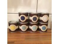 Farrow and Ball sample paint pots x 7