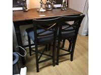 Mark webster breakfast bar plus 2 high chairs