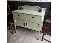 Edwardian cupboard, vintage painted cupboard, vintage sideboard,