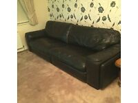 real leather sofa 3 and 2 seater cost £2000 12months old hevy from scs