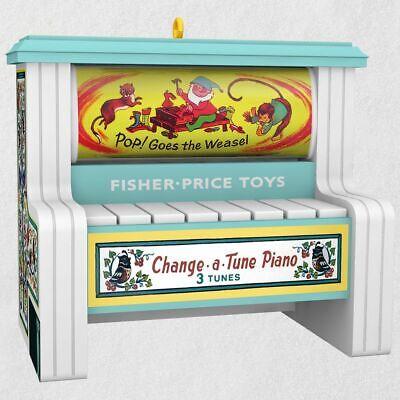 Hallmark Ornament - Change-a-Tune Fisher Price Piano - Sound Ornament