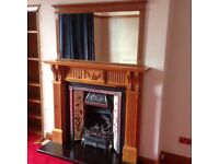 Fire place insert, surround and large mirror for sale, £80
