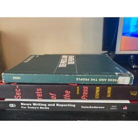 3 journalism/news reporting books/textbooks