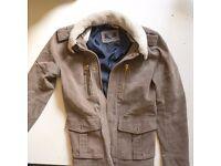 Zara Denim Couture Jacket Size M