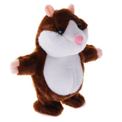 Voice Imitate Sound Recorder Walking Hamster Dark Brown for Kids Educational