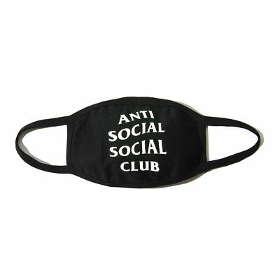 "ANTI SOCIAL SOCIAL CLUB ASSC FACE MASK WITH LOGO "" MEDICAL "" NEW BLACK GENUINE"