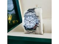Silver White Face Rolex Daytona Comes Rolex Bagged and Boxed with Paperwork