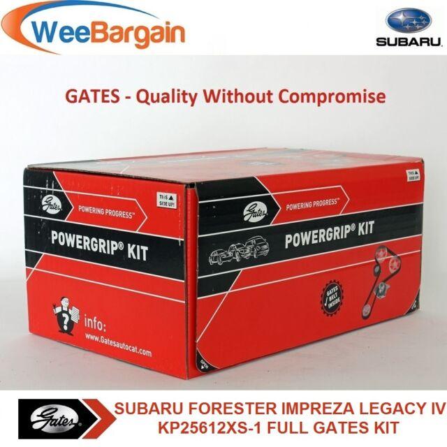 SUBARU Forester Impreza Legacy IV GATES KP25612XS-1 Timing Belt Kit Water Pump