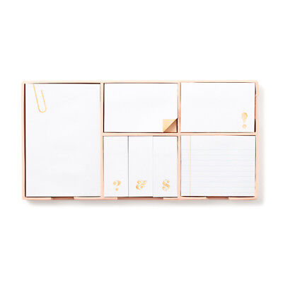 """NEW - KATE SPADE - Sticky Note Set -  """"Strike Gold"""" - Brighten your office!"""