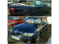 Low Mileage 55k, 2004 54 Plate BMW 318i Sport Convertible Auto 2.0 FullyLoaded 2 Owners FSH