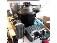 Hozelock Bioforce Revolution pump & Filter Kit 9000 inc extra satellite filter