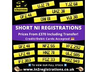 Short NI Number Plates from £370 - Cherished Personal Private Registration plates