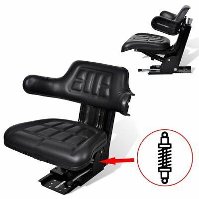 Vidaxl Tractor Seat Backrest Base Slide Suspension Mower Forklift Seating