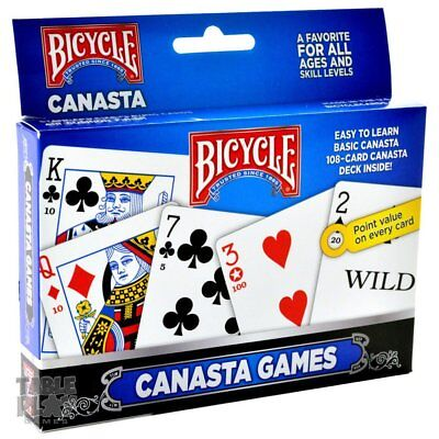 Bicycle 2-Pack Canasta Playing Cards Games Standard Each has Point Value](Playing Cards Games)
