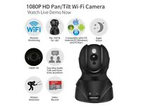 1080P HD WiFi IP Security Camera with Two-Way Audio Motion Detection & Night Vision