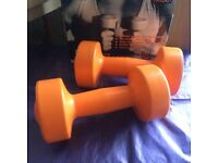 PRO-FITNESS SET OF DUMBELLS 2 X 1.5KG- NEW IN BOX