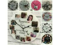 Personalised clock gift