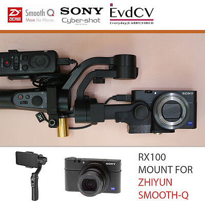 RX100 Mount for Zhiyun Smooth-Q Gimbal with Remote Holder