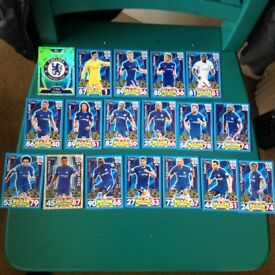 Match Attax Chelsea full set of 18 cards