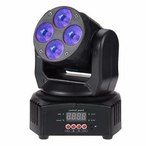 DJ and stage Light New Island  50 Watt 4 LED RGBW Rotating Moving Head DJ Party Stage Effect Light 9/12 Channel DMX512
